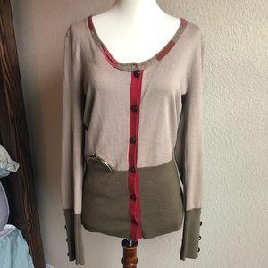 Anthro Lia Molly Cardigan Sweater M